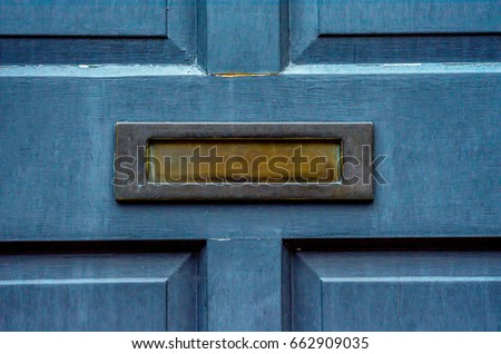 Old letterbox in the door traditional way of delivering letters to the house old & Letterbox Stock Images Royalty-Free Images \u0026 Vectors | Shutterstock Pezcame.Com