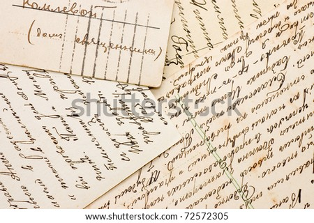 Old letters as a background - stock photo