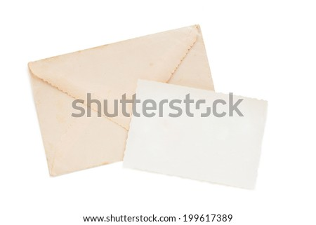 Old letters, postcards, photographs and memories - stock photo
