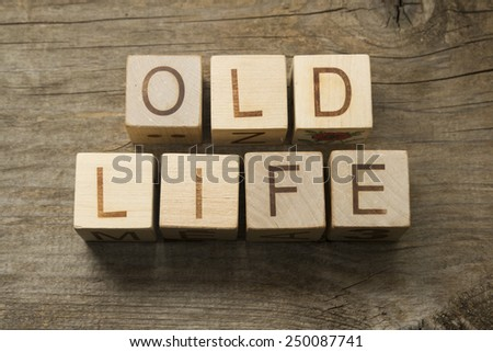 Old Life text on a wooden cubes - stock photo