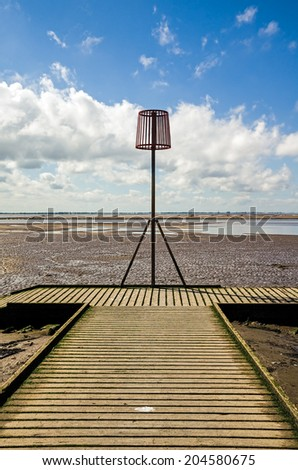 Old lifeboat jetty at Lytham St Annes  - stock photo