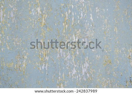 Old light blue plywood. Texture, natural background - stock photo
