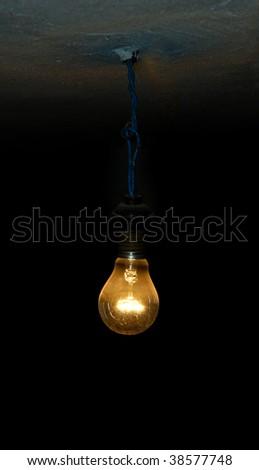 Old Light Bulb - stock photo