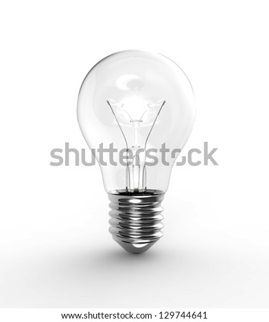 old light bulb on a white background - stock photo