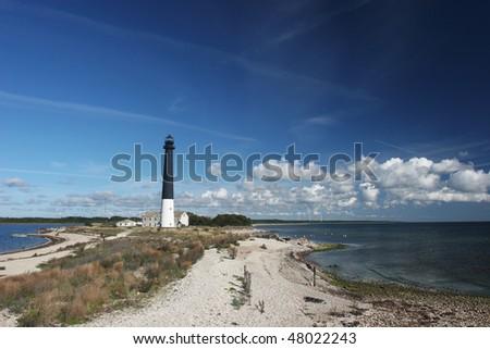 Old lighthouse at Saaremaa island (Estonia) - stock photo