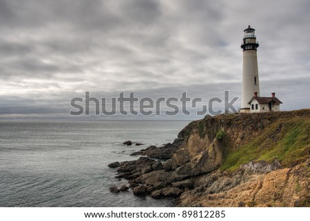 Old lighthouse at the sea