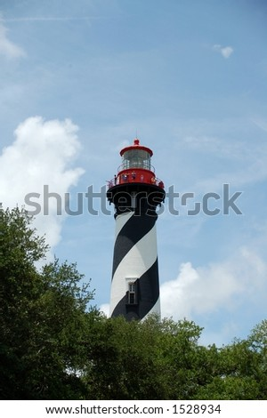 Old lighthouse by St Augustine, Florida - stock photo