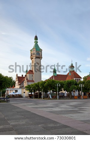 Old lighthouse in Sopot, Poland. - stock photo