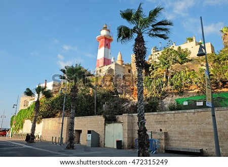 Old Lighthouse in the fishing port of Jaffa, Israel