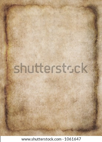 Old list of parchment, antique background texture of a page from an ancient book or a letter - stock photo