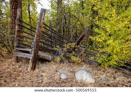 Old livestock ramp in Okanogan county near Winthrop, Washington.