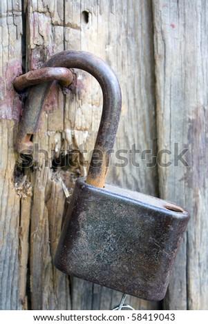 Old lock - stock photo