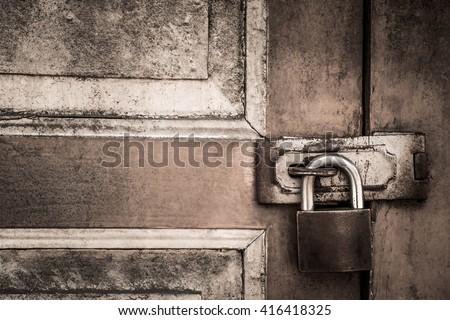 Old lock on the door. lock on the door of an old farmhouse . true & Locked Door Stock Images Royalty-Free Images \u0026 Vectors | Shutterstock Pezcame.Com