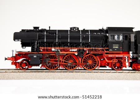 Old locomotive closeup - stock photo