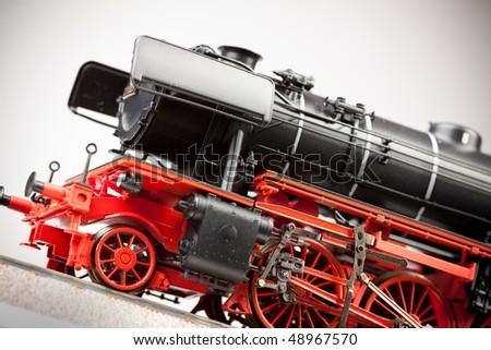 Old Locomotive model - stock photo