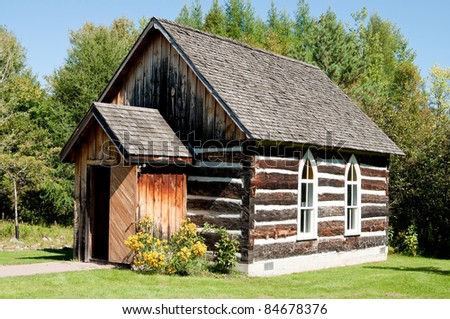 Old log building - schoolhouse