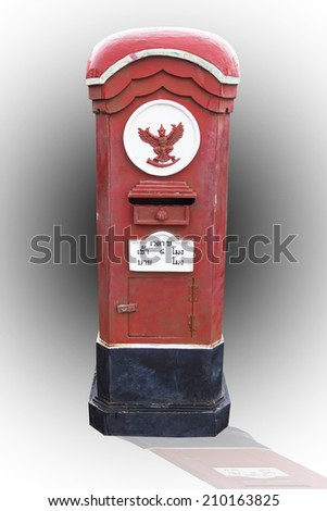 Old mail box of thailand