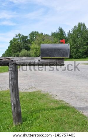 Old mailbox - stock photo