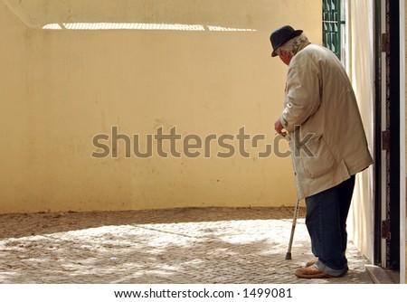 Old man - stock photo