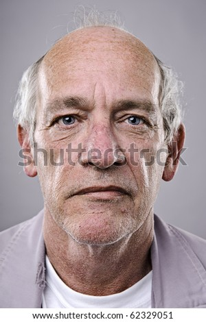 Old man, detailed portrait, lots of wrinkles - stock photo