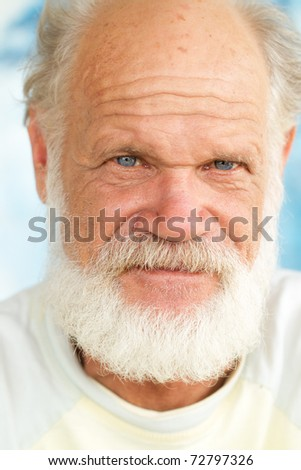 old man face closeup - stock photo