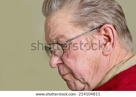 Old man in a home. - stock photo