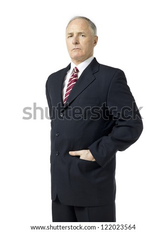 Old man suit over white background stock photo royalty free old man in suit over the white background publicscrutiny Images