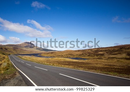 Old man in the distance - stock photo