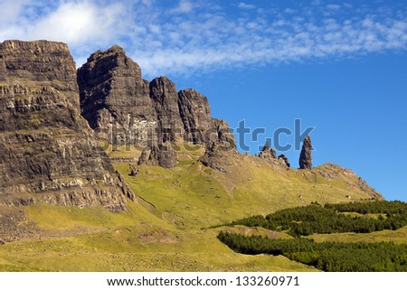 Old Man of Storr on the isle of Skye, Scotland. - stock photo