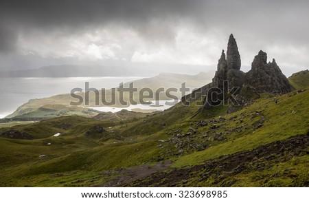 Old Man of Storr, Skye, Scotland - stock photo