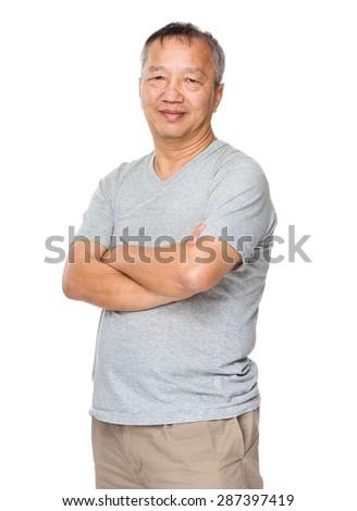 Old man portrait - stock photo