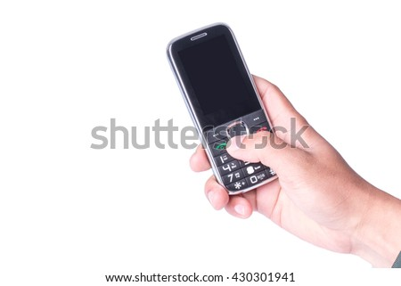 old man using keyboard cell phone