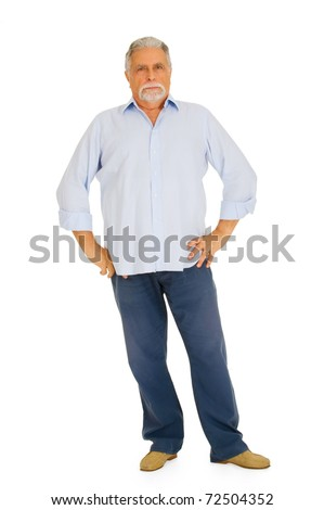 old man with severe air - stock photo