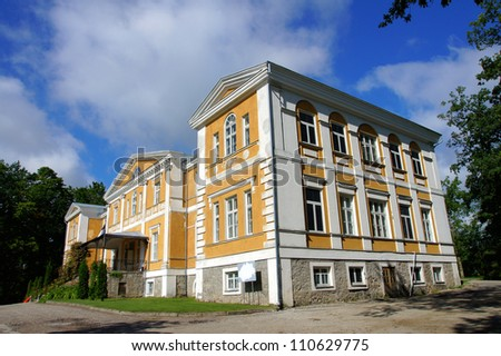 Old manor  in the central  Estonia. Kuremaa. - stock photo
