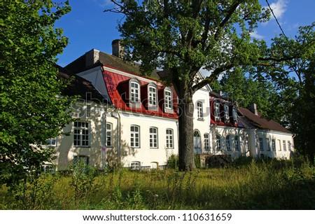 Old manor  in the central  Estonia. Purdi - stock photo