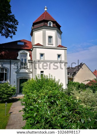Old Mansion Large Green Garden Front Stock Photo (Royalty Free ...