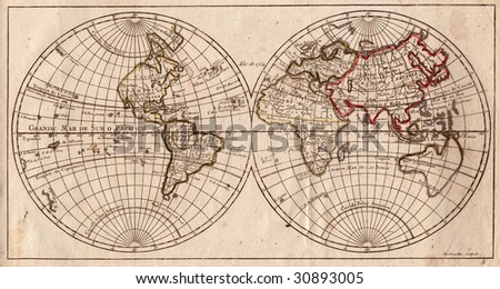 old map background - stock photo