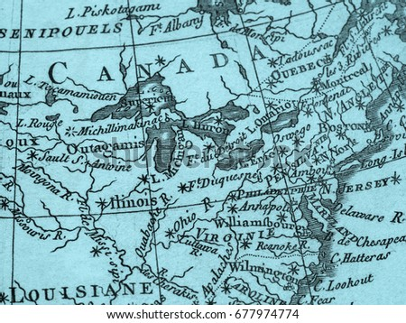 Old Map East Coast America Stock Photo (Edit Now) 677974774 ...