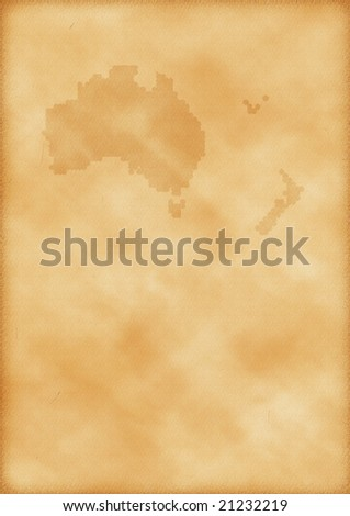 Old map of Australia and New Zealand as a background - stock photo
