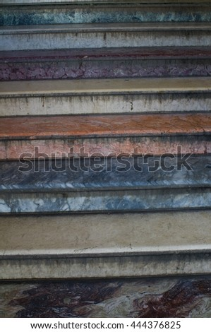 old marble stairs - stock photo