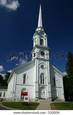 Old Massachusetts Church - stock photo