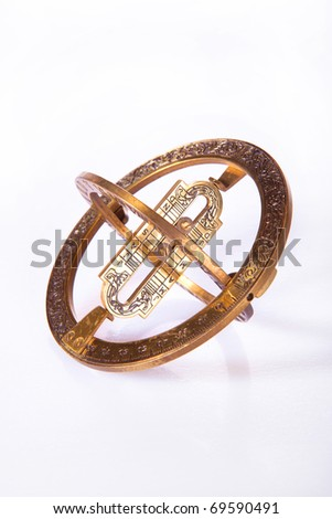 Old measuring instrument for navigation isolated - stock photo