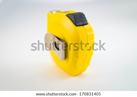 Old Measuring Tape (Stand) - stock photo