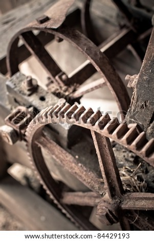 old mechanisms of industrial machinery