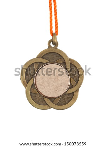 Old medal isolated on a white background - stock photo