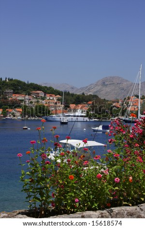 old medieval croatian town Cavtat in Dubrovnik region - stock photo