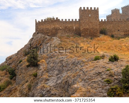 stock-photo-old-medieval-genoese-fortres