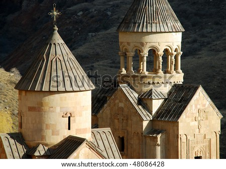old medieval monastery - stock photo