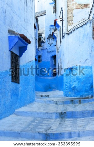 Old Medina of Chefchaouen, Morocco, Africa - stock photo