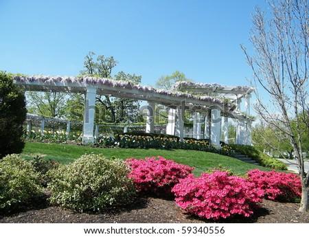 Old Memorial Amphitheater in Arlington National Cemetery, Arlington Virginia USA - stock photo